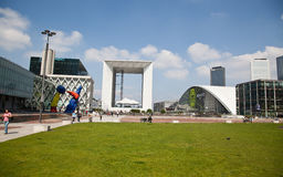 La Grande Arche, La Defense, Paris, France Royalty Free Stock Photos