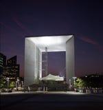 La Grande Arche in La Defense in Paris at sunset Royalty Free Stock Photo