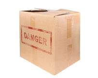 La grande boîte en carton Photo libre de droits