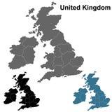 La Grande-Bretagne a détaillé l'ensemble de carte d'ensemble illustration libre de droits