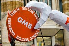 La Grande-Bretagne mérite une revalorisation des salaires - finissez la march de protestation de chapeau maintenant Image stock