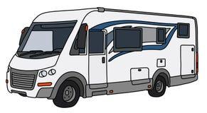 La grande caravane blanche illustration stock