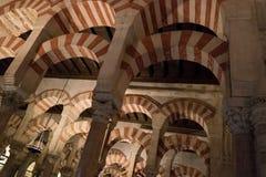 La grande cathédrale de mosquée de l'intérieur de Cordoue Photo libre de droits