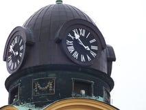 La grande chiesa a Debrecen immagini stock
