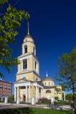 La grande chiesa di ascensione al portone di Nikitsky a Mosca, Russia fotografie stock libere da diritti