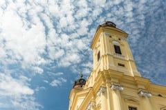 La grande chiesa protestante riformata Fotografie Stock