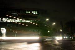 La grande città di Amburgo accende il camion di arte della lampadina di traffico fotografia stock libera da diritti