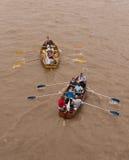 La grande corsa del fiume, barche sul Tamigi. Immagini Stock