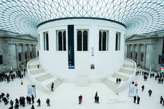 La grande cour chez British Museum à Londres Photographie stock libre de droits