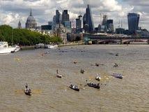 La grande course 2017 de rivière Images libres de droits