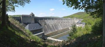 La grande diga di Edersee, Germania (panorama) Immagine Stock Libera da Diritti