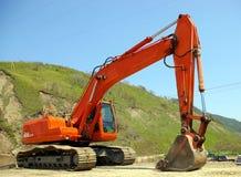 La grande excavatrice. Photographie stock libre de droits