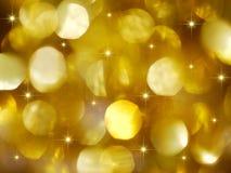 La grande festa dorata illumina la priorità bassa Immagini Stock Libere da Diritti