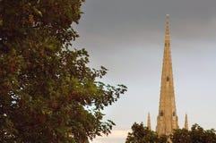 La grande flèche de la cathédrale de Norwich City Photos stock