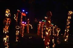 La grande flamme de lanterne de ` de Jack O dans le Croton-sur-Hudson à New York Photo stock