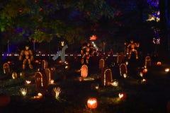 La grande flamme de lanterne de ` de Jack O dans le Croton-sur-Hudson à New York Photographie stock libre de droits