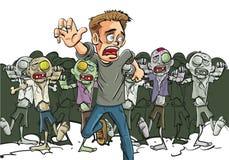 A trouvé un survivant de l'apocalypse de zombi Photos stock