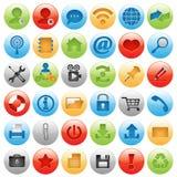 La grande icona ha impostato per il disegno di Web Immagini Stock