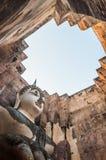 La grande immagine del Buddha in tempiale di amico di Sri Fotografia Stock
