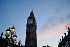La grande interdiction dans le coucher du soleil Images libres de droits