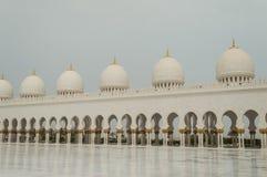 La grande moschea di Abu Dhabi Immagine Stock