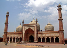 La grande mosquée Delhi Photos libres de droits