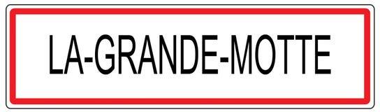 La Grande Motte city traffic sign illustration in France Stock Images