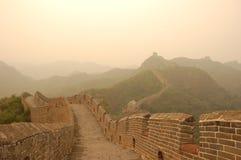 La grande muraglia al crepuscolo Fotografia Stock