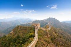 La Grande Muraglia all'autunno fotografia stock