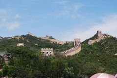 La Grande Muraglia della Cina a Badaling fotografia stock