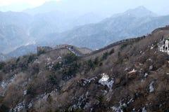 La grande muraglia della Cina in Badaling, Cina fotografia stock