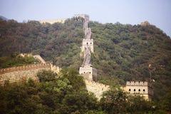 La grande muraglia della Cina a Mutianyu Fotografia Stock Libera da Diritti