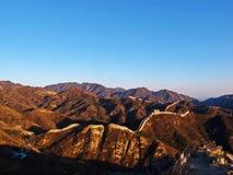 La grande muraglia della Cina (Pechino, Cina) Fotografia Stock Libera da Diritti