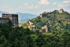 La grande muraglia della Cina, sezione di Jinshanlin Fotografia Stock Libera da Diritti