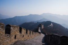 La grande muraglia della Cina, sezione di Mutianyu Immagine Stock