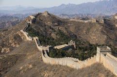 Grande muraglia della valle di Mutian della Cina Fotografie Stock Libere da Diritti