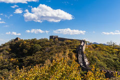 La grande muraglia, parte di Mutianyu Immagine Stock