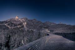 La grande muraglia si avvia di qui Fotografia Stock Libera da Diritti
