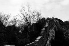 La Grande Muraglia su Jiankou Fotografia Stock