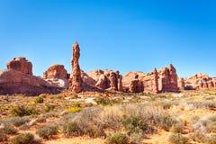 La grande muraglia vicino al parco nazionale di arché, U.S.A. Fotografie Stock