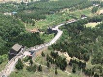 La Grande Muraille à la montagne de Jiaoshan's Photographie stock