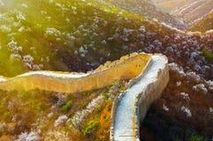 La Grande Muraille au printemps images libres de droits