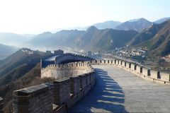 La Grande Muraille en bas visualisent Images stock