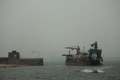 La Grande Muraille, la tête du vieux dragon - passage de Shanhai Photographie stock