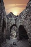 La Grande Muraille ruinée Photo stock