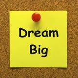 La grande note rêveuse signifie l'espoir d'avenir d'ambition Photos stock