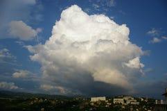 La grande nube Immagine Stock