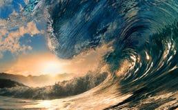 La grande onda Fotografie Stock