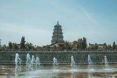 La grande pagoda dell'oca selvatica immagine stock