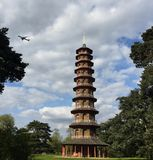 La grande pagoda, jardins de Kew image stock